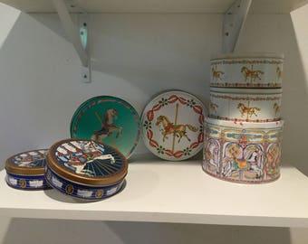 Vintage carousel tins