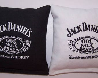 Embroidered Jack Daniels Cornhole Bags Set of Eight - Sweet