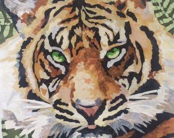 Batik Painting Jungle Tiger