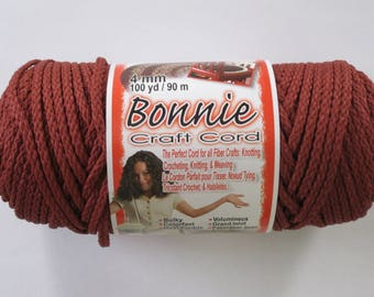 Bonnie Macrame Craft Cord 4mm 100 Yards Wine