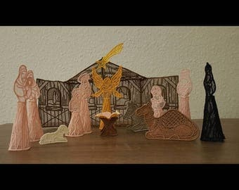 Nativity set in Lace