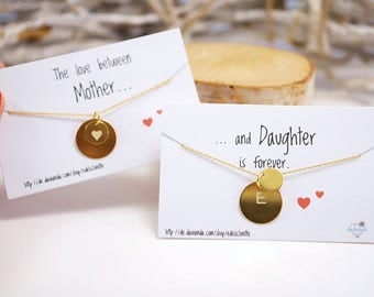 Chain ~ mother & daughter ~ engraving ~ 925 Silver ~ gold plated