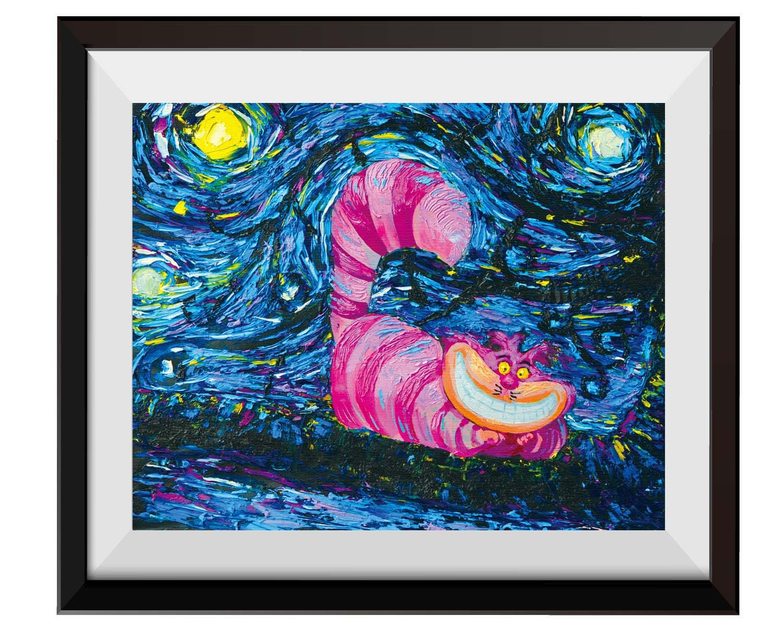 Vincent Van Gogh Starry Night Posters Alice In Wonderland