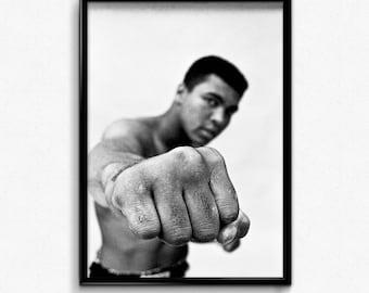 Muhammad Ali fist canvas art print poster
