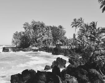 Black Sand Beach Photograph, Maui, Hawaii