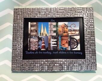 Silver Coloured Mosaic Frame