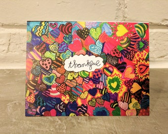 Say It With Gratitude – 1 Pack of 8 Cards: Thankful Design to help end childhood cancer