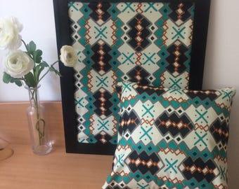 BOGOLAN reasons Africans-diamond/green/white/Orange cushion