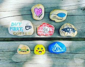 Custom painted rocks