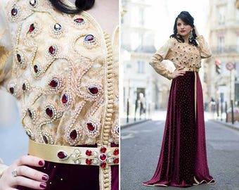 Wedding moroccan caftan dress - caftan marocain pour mariage