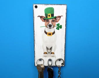 Dog leash holder, key hanger, key holder, leash holder, leash hanger, handmade leash holder