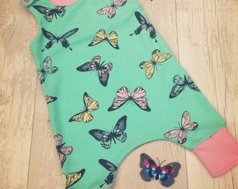 Butterfly romper dungarees baby outfit
