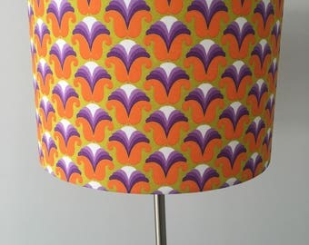 Retro 70s Fabric Drum Lampshade