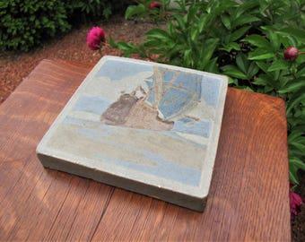 "Antique Arts & Crafts ""Marblehead"" Art Pottery Tile   w3929  (Stickley Era)"