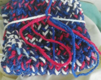 Stars and Stripes Loom Knitted Washcloths- Set of Three