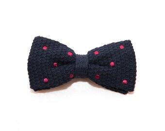 MORÉ de - knitted bow tie bordeaux