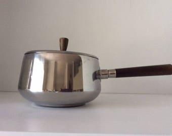 Stainless Steel Fondue Pot   Nevco   Japan   Vintage