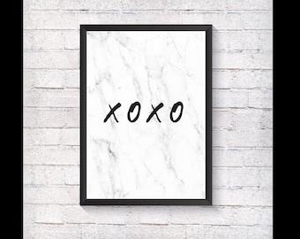 XOXO Marble Print