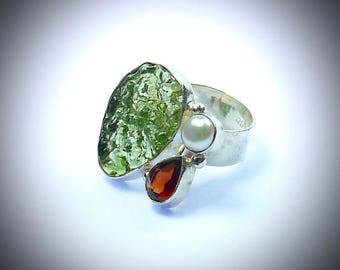 Sterling silver Contemporary Ethnic style ring