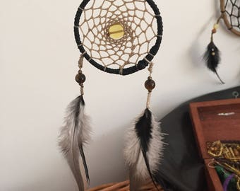 Dream Catcher By The SwearingCraftsman @ Nanas. Mexican amber and Tiger eye with various feathers