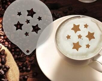 Stars Coffee Stencil