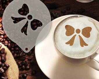 Ribbon Coffee Stencil