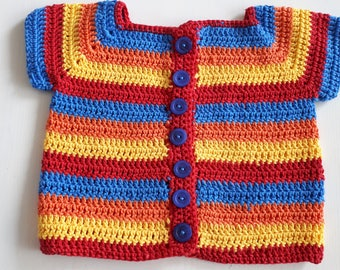 Merry crocheted jacket for a girl
