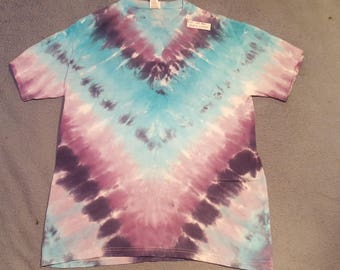 "tie dye t-shirt adult large""ice blue"""