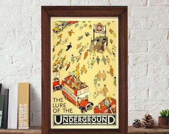Wall art Poster, Wall art print, vintage poster, London poster