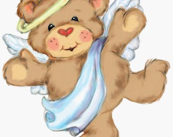 Teddy Bear Angel Cross Stitch Pattern