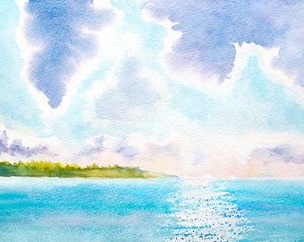 Landscape Watercolour Painting Q03