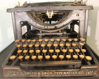 Antique L.C. Smith & Bros. Typewriter #2 - 1904 - Vintage - RARE - Steampunk