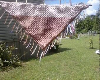 crocodile stitch shawl