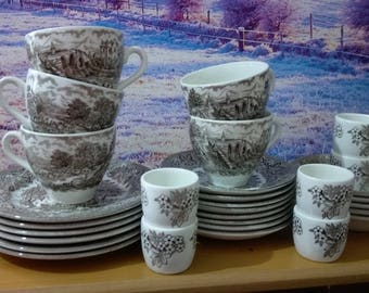Ironstone Tableware, ironstone tea set, Full vintage coffee and tea set, ironstone plates, Vintage coffee set, Vintage Tea set, ironstone