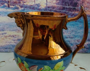 Copper big milk jug, Copper milk jug, copper kitchen, copper, old jug, vintage jug