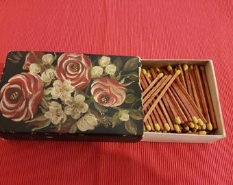 Matches, Hand paint matches, vintage matches, vintage hand made matches