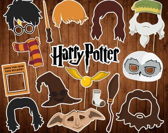 Printable Harry Potter Photo Booth Props - INSTANT DOWNLOAD - Harry Potter Birthday Decor - Harry Potter Party Supplies