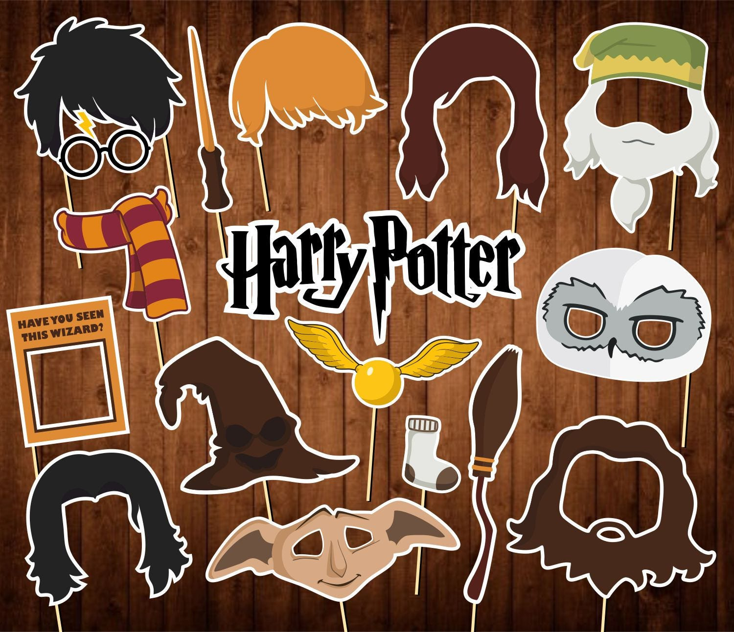 Harry Potter Photo Booth Props Wizard Photo Booth Props