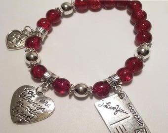 In My Heart Beaded Bracelet