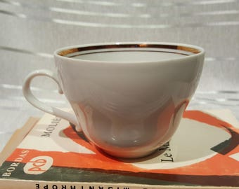 Vintage Kahla White and Gold Teacup German Democratic Republic Made