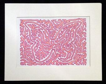 Butterfly 1.0 - Original Artwork, Pink