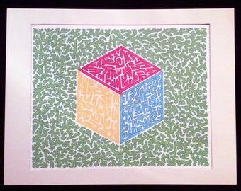 Primary Color Cube 1.0 - Original Artwork, Red, Yellow, Blue, and Green