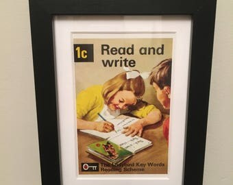 Retro Ladybird Book cover. Read and Write
