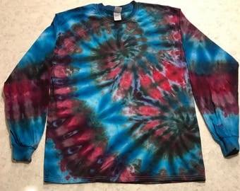 Large Long Sleeve Ice Dyed Shirt