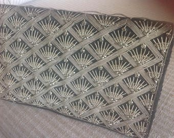 Black bag, wallet art deco clutch made in india
