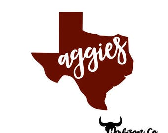 Aggies Decals Etsy