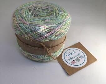 Hand Dyed 4 ply Superwash Merino, Silk, Baby Alpaca Edinburgh rock