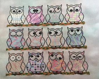 Owl SAL Cross Stitch Chart