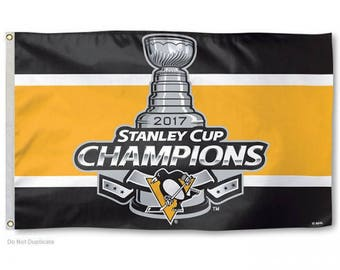 Pittsburgh Penguins 2017 Stanley Cup Champions Flag (3' x 5')