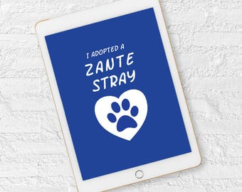 I Adopted A Zante Strays iPad wallpaper screensaver background